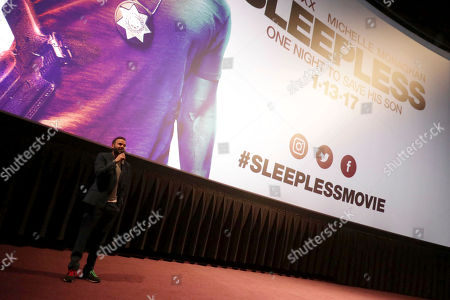 "Director Baran bo Odar seen at Open Road Films' ""Sleepless"" Los Angeles Premiere at Regal LA LIVE, in Los Angeles"