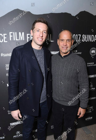 "Producer Matthew Kaplan and Producer Brian Robbins seen at Open Roads Films premiere of ""Before I Fall"" at 2017 Sundance Film Festival, in Park City, Utah"