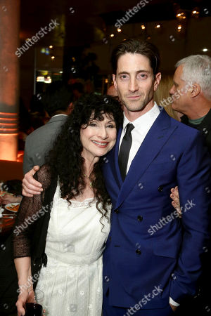 "Author Diane Ackerman and Iddo Goldberg seen at Los Angeles Premiere of Focus Features' ""The Zookeeper's Wife"" at ArcLight Hollywood, in Los Angeles"
