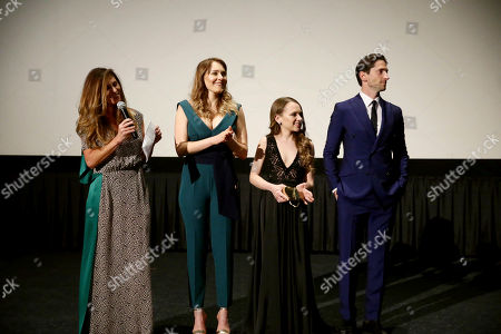 """Director Niki Caro, Magdalena Lamparska, Shira Haas and Iddo Goldberg seen at Los Angeles Premiere of Focus Features' """"The Zookeeper's Wife"""" at ArcLight Hollywood, in Los Angeles"""