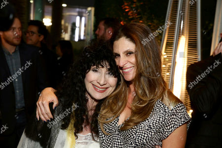 "Author Diane Ackerman and Director Niki Caro seen at Los Angeles Premiere of Focus Features' ""The Zookeeper's Wife"" at ArcLight Hollywood, in Los Angeles"