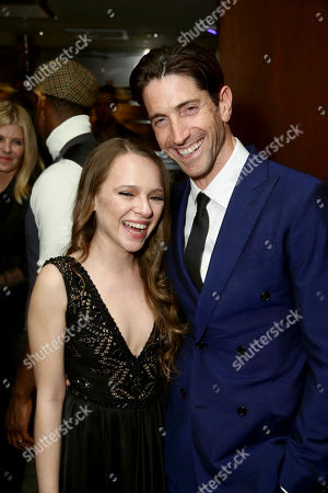 """Shira Haas and Iddo Goldberg seen at Los Angeles Premiere of Focus Features' """"The Zookeeper's Wife"""" at ArcLight Hollywood, in Los Angeles"""