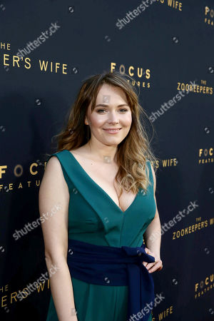 """Stock Image of Magdalena Lamparska seen at Los Angeles Premiere of Focus Features' """"The Zookeeper's Wife"""" at ArcLight Hollywood, in Los Angeles"""
