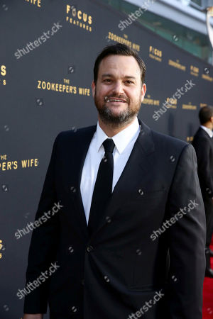 """Producer Jamie Patricof seen at Los Angeles Premiere of Focus Features' """"The Zookeeper's Wife"""" at ArcLight Hollywood, in Los Angeles"""