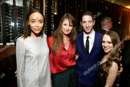 """Ashley Madekwe, Costume Designer Bina Daigeler, Iddo Goldberg and Shira Haas seen at Los Angeles Premiere of Focus Features' """"The Zookeeper's Wife"""" at ArcLight Hollywood, in Los Angeles"""