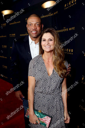 "Doc Rivers and Director Niki Caro seen at Los Angeles Premiere of Focus Features' ""The Zookeeper's Wife"" at ArcLight Hollywood, in Los Angeles"