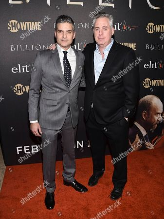 "Executive Producer/Showrunner David Levien, left, and Brian Koppelman attend Showtime's ""Billions"" Season 2 premiere at Cipriani, in New York"