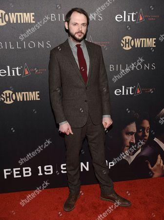 "Christopher Denham attends Showtime's ""Billions"" Season 2 premiere at Cipriani, in New York"