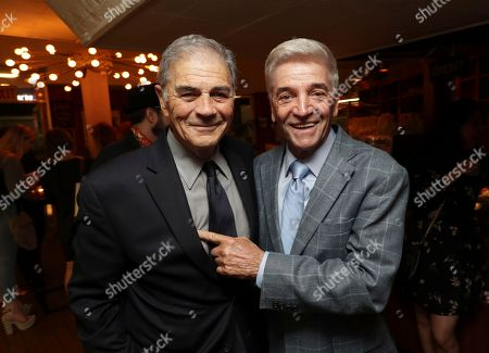 """Robert Forster, left, and Tom Dreesen are pictured at Showtime's """"I'm Dying Up Here"""" premiere after party at Canter's Deli, in Los Angeles"""