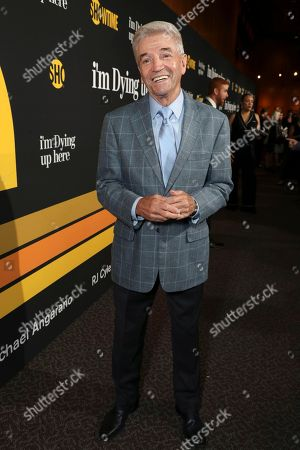 """Tom Dreesen is pictured at Showtime's """"I'm Dying Up Here"""" premiere at the Directors Guild of America Theater, in Los Angeles"""