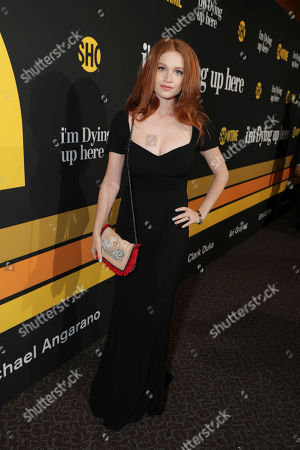 "Sarah Hay is pictured at Showtime's ""I'm Dying Up Here"" premiere at the Directors Guild of America Theater, in Los Angeles"