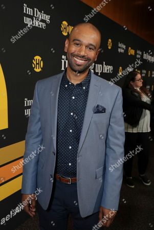 "Brandon Ford Green is pictured at Showtime's ""I'm Dying Up Here"" premiere at the Directors Guild of America Theater, in Los Angeles"