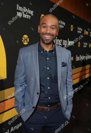 "Stock Image of Brandon Ford Green is pictured at Showtime's ""I'm Dying Up Here"" premiere at the Directors Guild of America Theater, in Los Angeles"