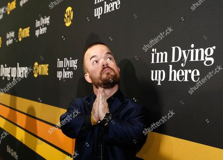 """Brad Williams is pictured at Showtime's """"I'm Dying Up Here"""" premiere at the Directors Guild of America Theater, in Los Angeles"""