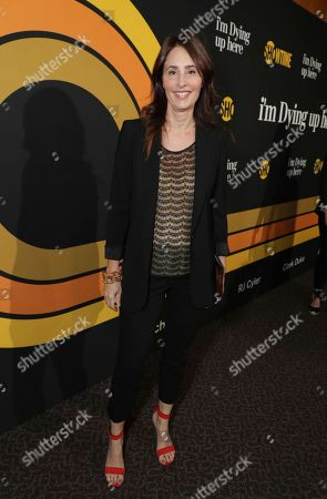 """Christina Wayne, executive producer, is pictured at Showtime's """"I'm Dying Up Here"""" premiere at the Directors Guild of America Theater, in Los Angeles"""