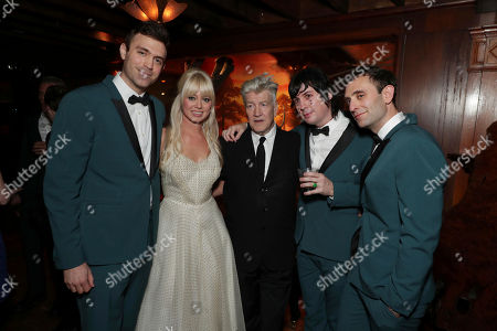 Adam Miller, Ruth Radelet, Creator/Executive Producer David Lynch, Johnny Jewel and Nat Walker pictured at Showtime's TWIN PEAKS premiere after party on in Los Angeles