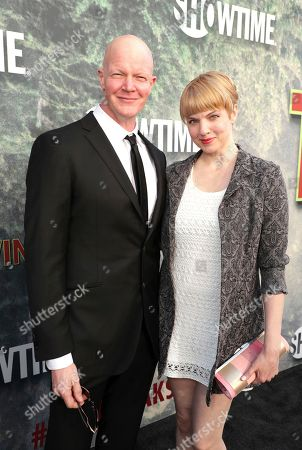 Derek Mears and Jennifer Flack pictured at Showtime's TWIN PEAKS premiere on in Los Angeles
