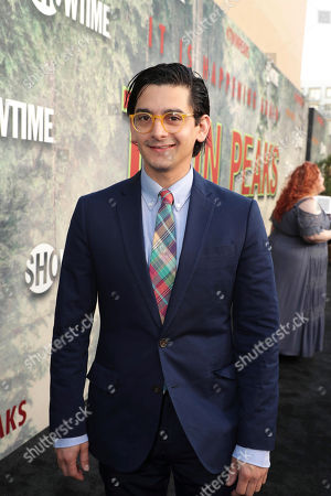 Josh Fadem pictured at Showtime's TWIN PEAKS premiere on in Los Angeles