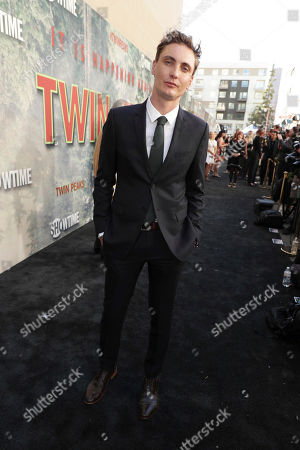 Eamon Farren pictured at Showtime's TWIN PEAKS premiere on in Los Angeles