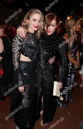 Madchen Amick and Nicole LaLiberte pictured at Showtime's TWIN PEAKS premiere after party on in Los Angeles