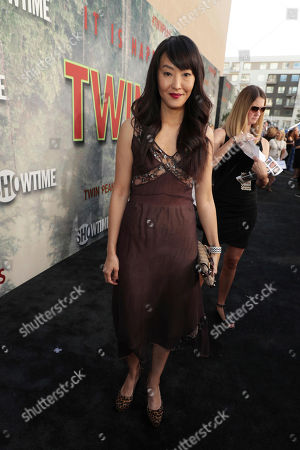 Elizabeth Anweis pictured at Showtime's TWIN PEAKS premiere on in Los Angeles