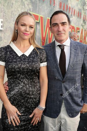 Lauren Bowles and Patrick Fischler pictured at Showtime's TWIN PEAKS premiere on in Los Angeles