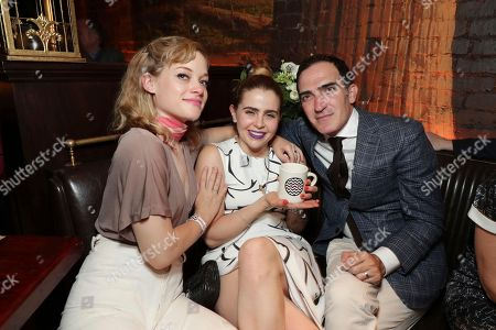 Jane Levy, Mae Whitman and Patrick Fischler pictured at Showtime's TWIN PEAKS premiere after party on in Los Angeles