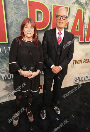 Producer Johanna Ray and Richard Chamberlain pictured at Showtime's TWIN PEAKS premiere on in Los Angeles