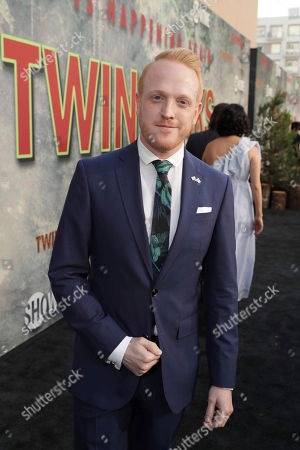 Owain Rhys Davies pictured at Showtime's TWIN PEAKS premiere on in Los Angeles