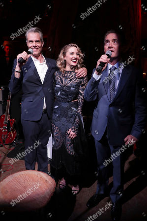 Dana Ashbrook, Madchen Amick and Kyle MacLachlan speak at Showtime's TWIN PEAKS premiere after party on in Los Angeles