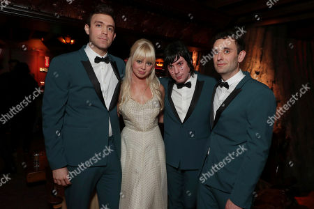 Adam Miller, Ruth Radelet, Johnny Jewel and Nat Walker pictured at Showtime's TWIN PEAKS premiere after party on in Los Angeles