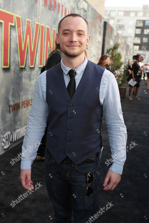 Stock Image of James David Grixoni pictured at Showtime's TWIN PEAKS premiere on in Los Angeles