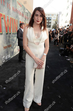 Kate Alden pictured at Showtime's TWIN PEAKS premiere on in Los Angeles
