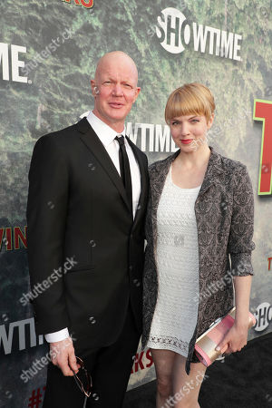 Stock Picture of Derek Mears and Jennifer Flack pictured at Showtime's TWIN PEAKS premiere on in Los Angeles