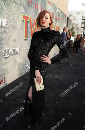 Stock Photo of Nicole LaLiberte pictured at Showtime's TWIN PEAKS premiere on in Los Angeles