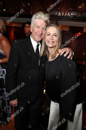 Creator/Executive Producer David Lynch and Peggy Lipton pictured at Showtime's TWIN PEAKS premiere after party on in Los Angeles