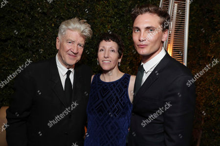 Creator/Executive Producer David Lynch, Executive Producer Sabrina S. Sutherland and Eamon Farren pictured at Showtime's TWIN PEAKS premiere after party on in Los Angeles