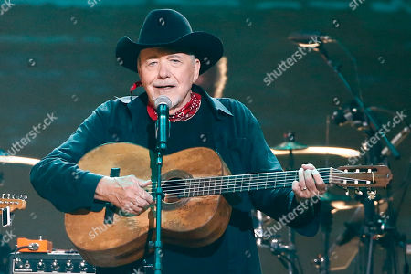 """Bobby Bare performs at the concert """"Sing me Back Home: The Music of Merle Haggard"""" at the Bridgestone Arena, in Nashville, Tenn"""