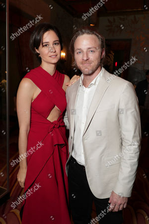 Katherine Waterston and Nathaniel Dean seen at Sir Ridley Scott Hands and Footprint Ceremony at the TCL Chinese Theatre, in Los Angeles