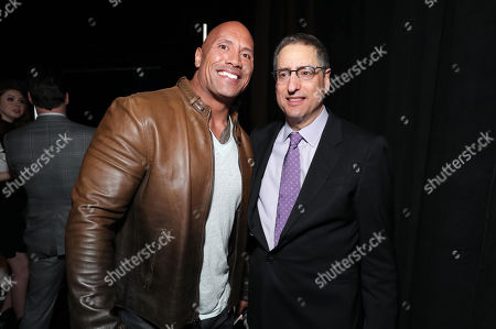 Dwayne Johnson and Thomas Rothman, Chairman of Sony Pictures Entertainment's Motion Picture Group, seen at Sony Pictures Entertainment CinemaCon 2017 Summer and Beyond Presentation, in Las Vegas