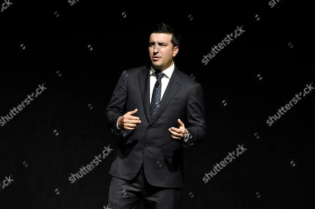 Josh Greenstein, President of Sony Pictures Worldwide Marketing & Distribution, speaks at Sony Pictures Entertainment CinemaCon 2017 Summer and Beyond Presentation, in Las Vegas