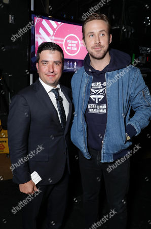 Josh Greenstein, President of Sony Pictures Worldwide Marketing & Distribution, and Ryan Gosling seen at Sony Pictures Entertainment CinemaCon 2017 Summer and Beyond Presentation, in Las Vegas
