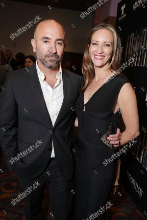 Director Ricardo de Montreuil and Marisa Wenner seen at a Special Screening of BH Tilt, Imagine Entertainment and Telemundo Films 'Lowriders' on at the Regal LA Live in Los Angeles, Ca