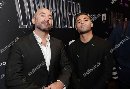 Director Ricardo de Montreuil and Gabriel Chavarri seen at a SpecialScreening of BH Tilt, Imagine Entertainment and Telemundo Films 'Lowriders' on at the Regal LA Live in Los Angeles, Ca
