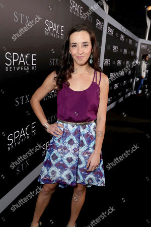 """Lauren Myers seen at STX Entertainment Los Angeles Special Screening of """"The Space Between Us"""" at ArcLight Hollywood, in Los Angeles"""