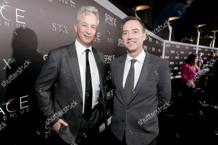 "Executive Producers Jeffrey Soros and Simon Horsman seen at STX Entertainment Los Angeles Special Screening of ""The Space Between Us"" at ArcLight Hollywood, in Los Angeles"