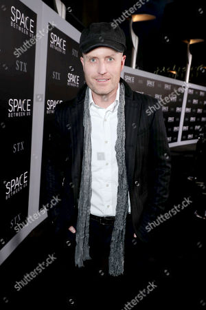 "Stock Photo of Composer Andrew Lockington seen at STX Entertainment Los Angeles Special Screening of ""The Space Between Us"" at ArcLight Hollywood, in Los Angeles"