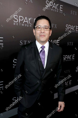 "Scott Takeda seen at STX Entertainment Los Angeles Special Screening of ""The Space Between Us"" at ArcLight Hollywood, in Los Angeles"