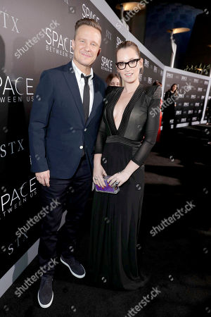 """Will Chase and Ingrid Michaelson seen at STX Entertainment Los Angeles Special Screening of """"The Space Between Us"""" at ArcLight Hollywood, in Los Angeles"""