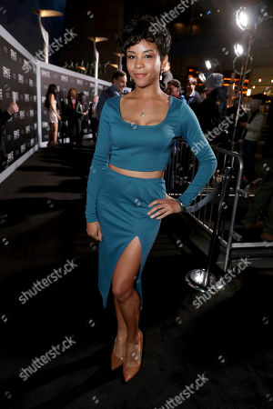 """Aasha Davis seen at STX Entertainment Los Angeles Special Screening of """"The Space Between Us"""" at ArcLight Hollywood, in Los Angeles"""